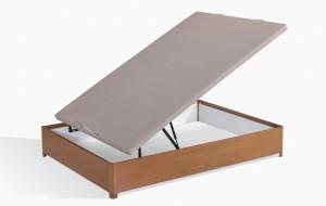 canape de madera o somier, que elijo