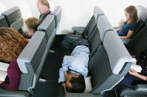 dormir en un avión