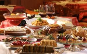 comida y descanso en navidad
